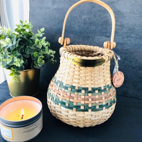 Market Art Baskets Other - Karen Traub vintage basket small striped 1999